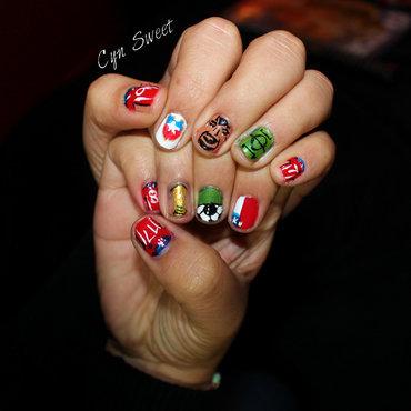 chile al mundial nail art by CynSweet