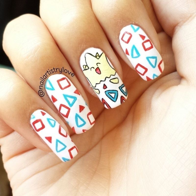 Togepi nail art by Julia
