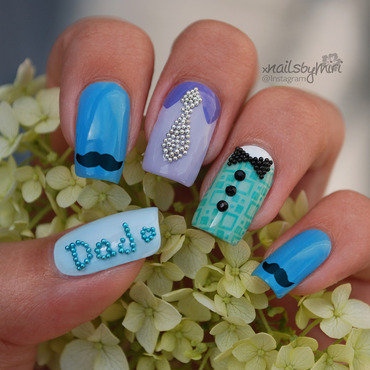 Happy Father's Day! nail art by xNailsByMiri