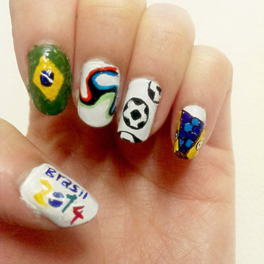 Fifa World Cup nails  nail art by Erica