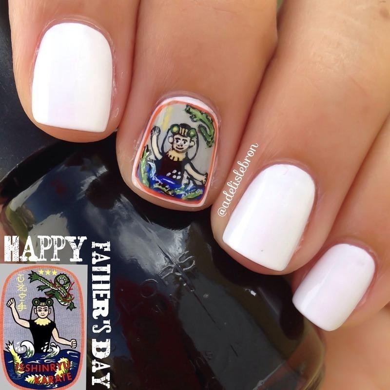 Isshin-Ryu Karate Nails nail art by Adelis Lebron