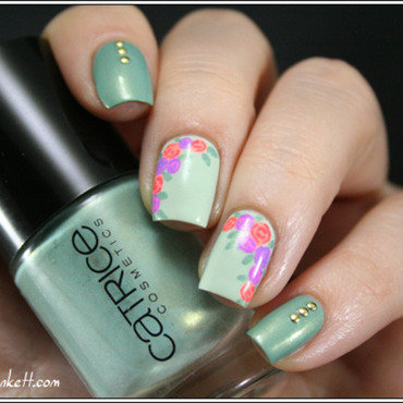 Mint Me Up nail art by Mary Monkett