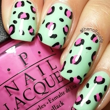 Minty Spots nail art by thenailguide