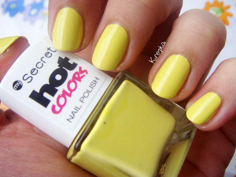 My Secret Hot Colors 179 Yellow Swatch by Zosia