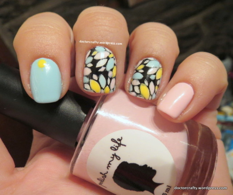 Pastel Leadlighting nail art by Nicole