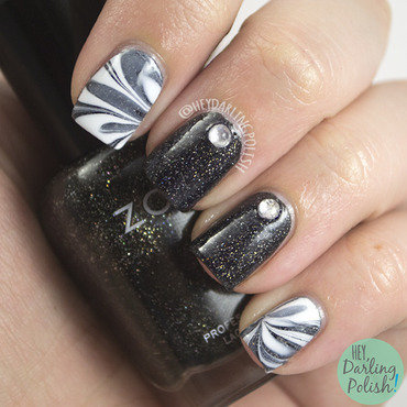 Nail challenge collaborative black white watermarble 4 thumb370f