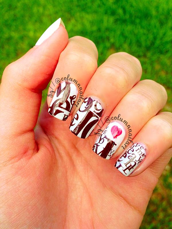 Fingrs Tattoo Nails nail art by Carly Morgan
