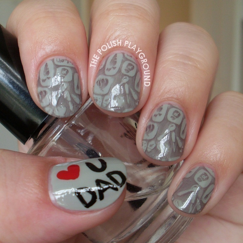 Fun in the Kitchen Stamping nail art by Lisa N