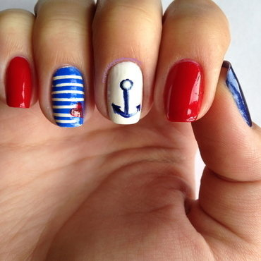 Red Sails nail art by Anna Malinina