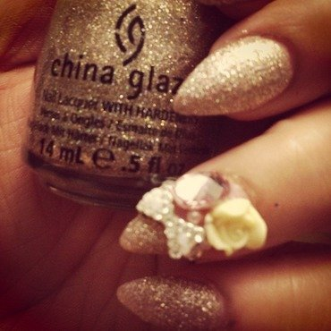 Gold everything chu nail art by mel