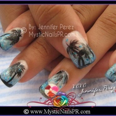 Summertime! ♥ by Jennifer Perez nail art by Jennifer Perez ♥ Mystic Nails