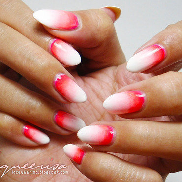 Strikingly Pink nail art by Lacqueerisa