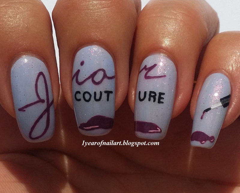 Jior Couture nail art by Margriet Sijperda