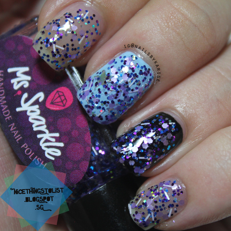 Ms. Sparkle Lady Violet Swatch by Karise Tan