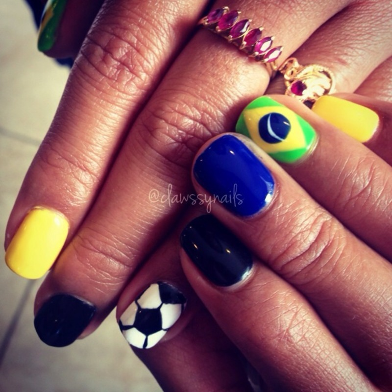 world cup nails nail art by Jessica de Leon