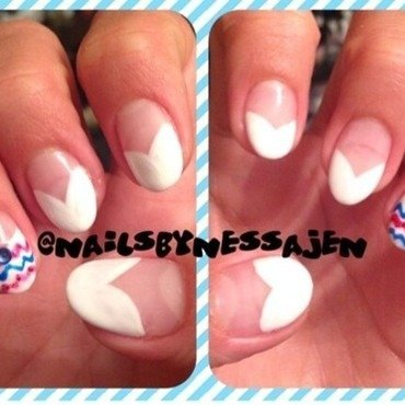 Fancy Fourth nail art by Vanessa Jenelle
