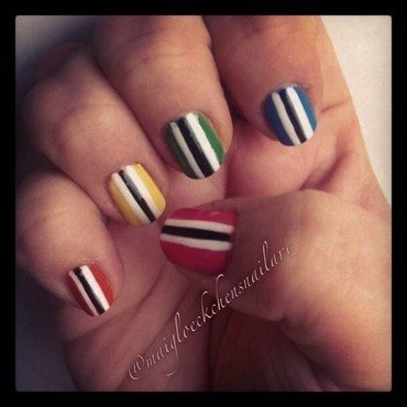 Funny Stripe Nail Art nail art by Mai Glöckchen