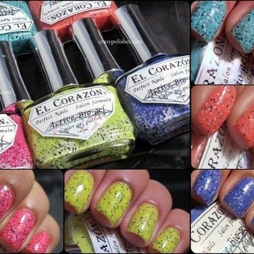 El Corazon fenechka collection swatches nail art by CrazyPolishes (Dimpal)