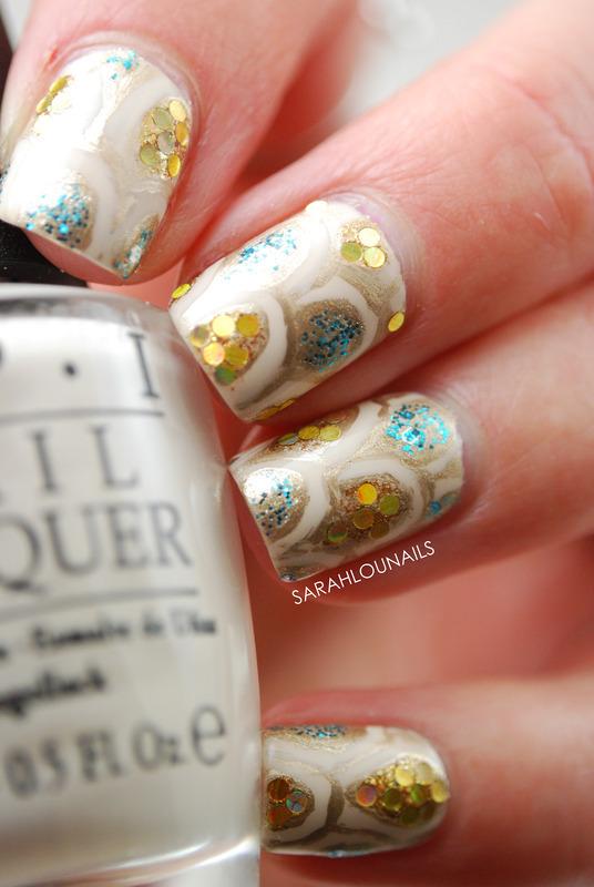 """""""Glam"""" Nails nail art by Sarah S"""