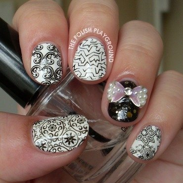 Random 20black 20and 20white 20stamping 20nail 20art thumb370f