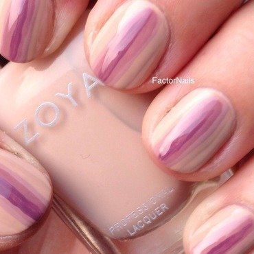 Zoya Neutrals 2014: colour block nail art by Factornails