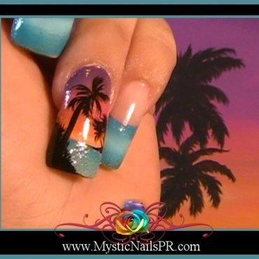 Beach Paradise! ♥ by Jennifer Perez nail art by Jennifer Perez ♥ Mystic Nails