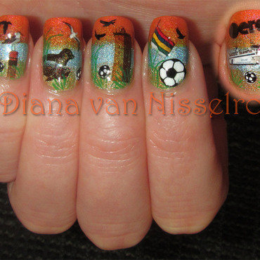 World Cup on Terschelling nail art by Diana van Nisselroy