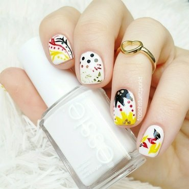 Fifa World Cup Design: Germany nail art by froschstuetzpunkt
