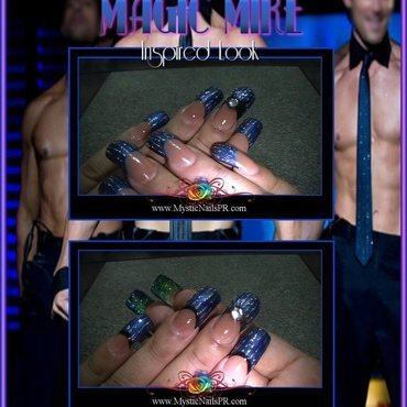 Magic Mike ♥ by Jennifer Perez nail art by Jennifer Perez ♥ Mystic Nails