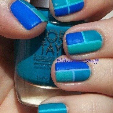 Color blocking nail art by Jenette Maitland-Tomblin