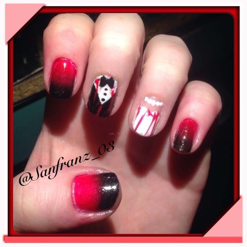 "Game of thrones ""red wedding"" nails! nail art by Sandy ..."