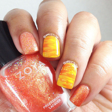 Orange Fun nail art by Amber Connor