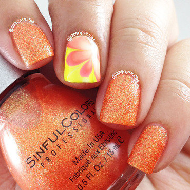 Orange Crush nail art by Amber Connor