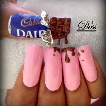 Chocolate in the sun nail art by Dess_sure