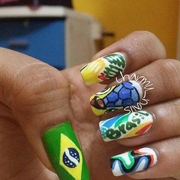 Fifa nails 2014!!!!!! nail art by Charmaine