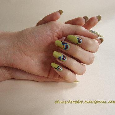 Paisley nail art by Alina