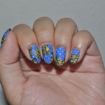 In Honor of Pacific Blue nail art by Ramy Ang