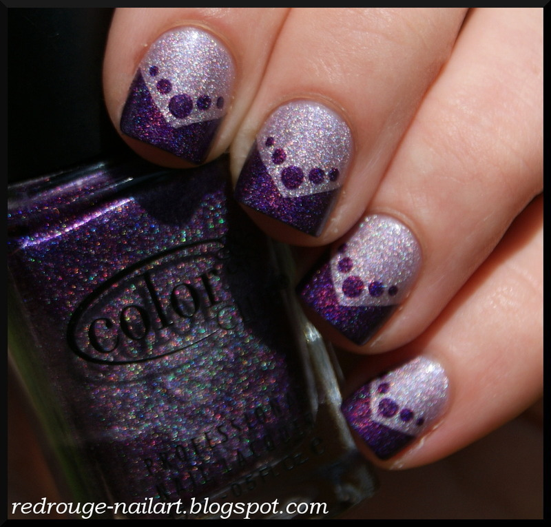 Holographic Madness nail art by RedRouge