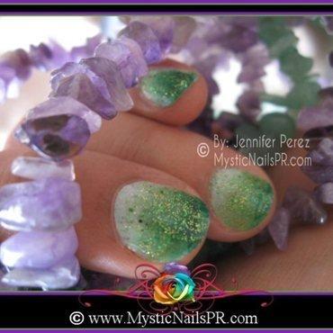 Ombré  Emerald Green ♥ by Jennifer Perez nail art by Jennifer Perez ♥ Mystic Nails