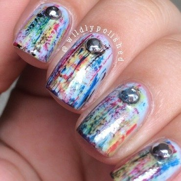 Distressed Nail Art nail art by Alejandra Sifontes