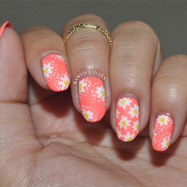 Ooopsie.... Daisy did it again! nail art by Ramy Ang