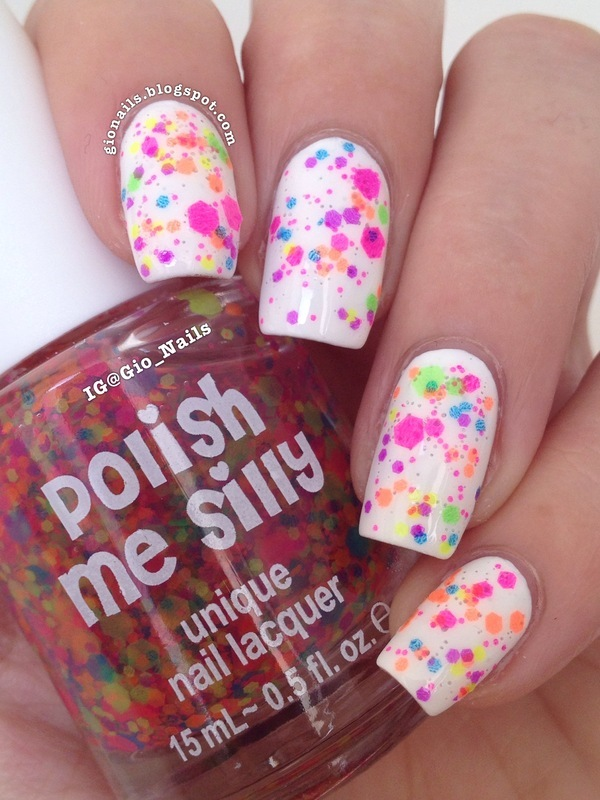 OPI Alpine Snow and polish me silly Clowning Around Swatch by Giovanna - GioNails