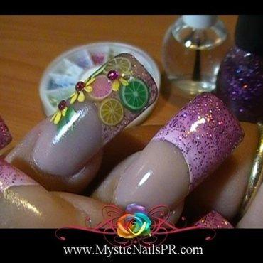 Summetime Citrus! ♥ by Jennifer Perez nail art by Jennifer Perez ♥ Mystic Nails