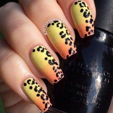 Leopard Crescent  nail art by PolishedJess