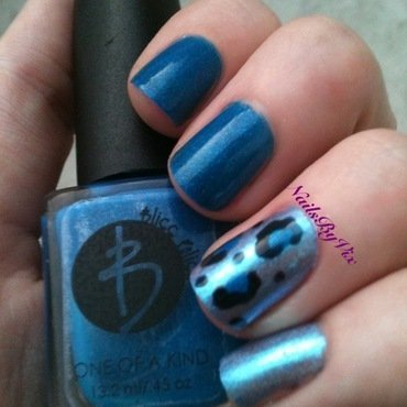 Autism Awareness Leopard Print nail art by Victoria Lynn