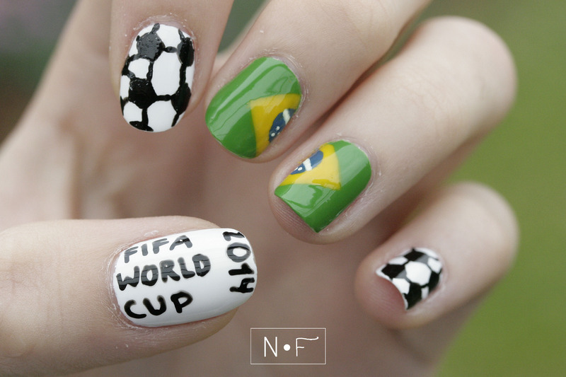 FIFA World Cup nail art by NerdyFleurty