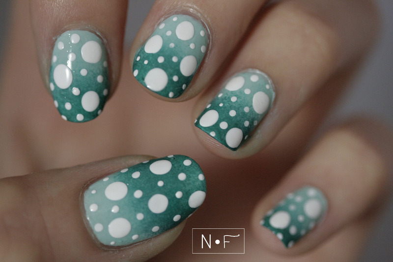 Polka dots for Summer (1) nail art by NerdyFleurty