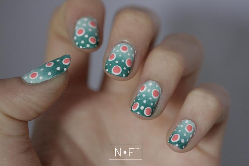 Polka dots for Summer (2) nail art by NerdyFleurty