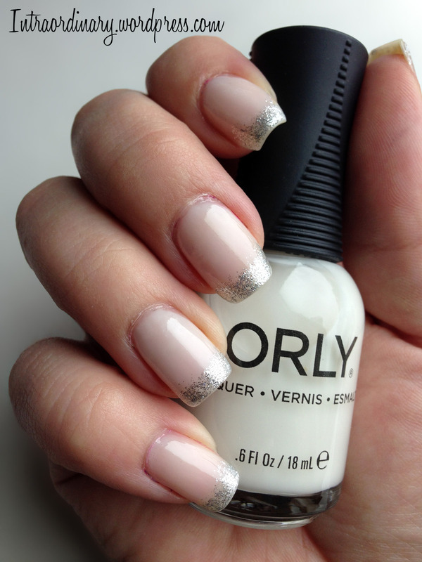 Glitter Tipped French Manicure nail art by Katie