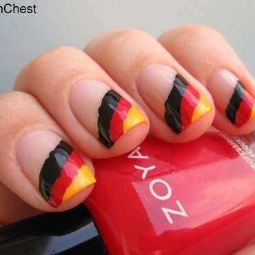 Germany! nail art by Danny